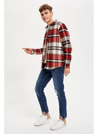 DeFacto Regular Fit Uzun Kollu Oduncu Gömlek Kırmızı